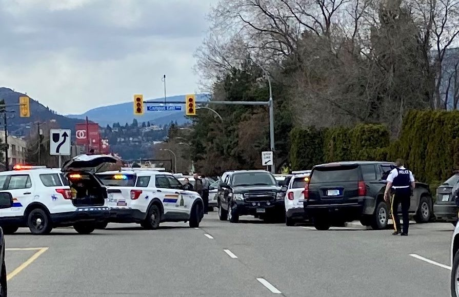 RCMP followed an erratic driver from Summerland to Kelowna on Tuesday afternoon.