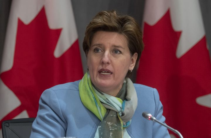 A file photo of Minister of Agriculture and Agri-Food Minister Marie-Claude Bibeau.