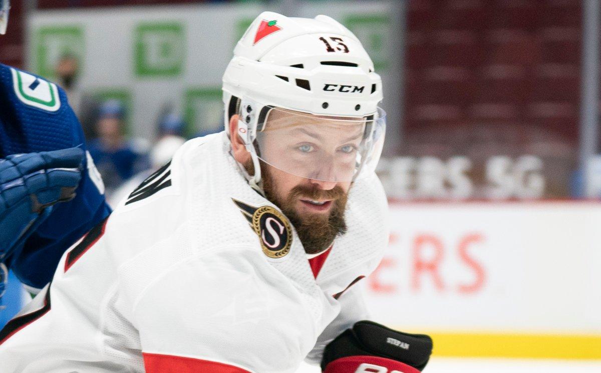 Ottawa Senators forward Derek Stepan (15) will miss the rest of the 2021 NHL season following a shoulder injury.