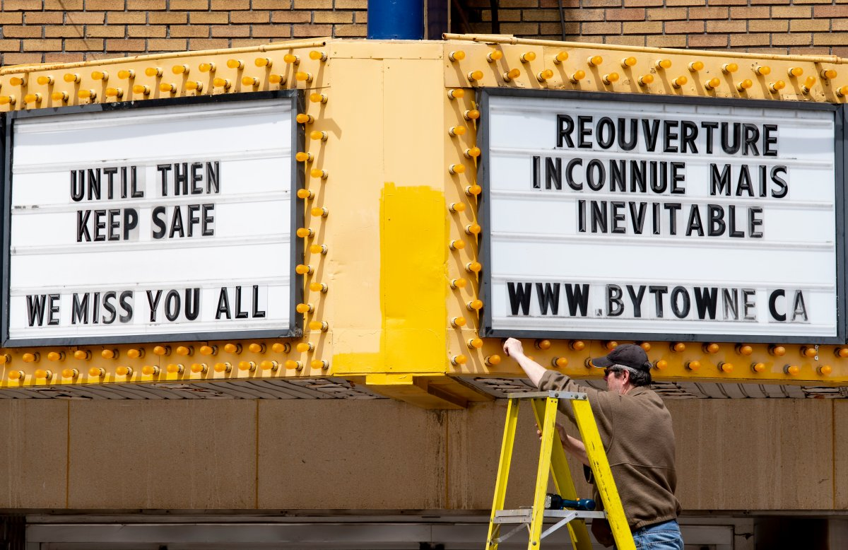 The ByTowne Cinema in Ottawa was forced to close permanently last year amid the novel coronavirus pandemic. Other movie theatres in town are hoping to avoid the same fate as the city enters Ontario's COVID-19 red zone, which forces them to close again.