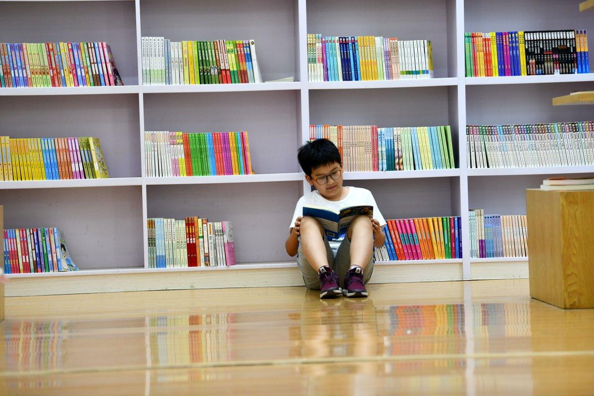 File photo. A child reading a children's book.