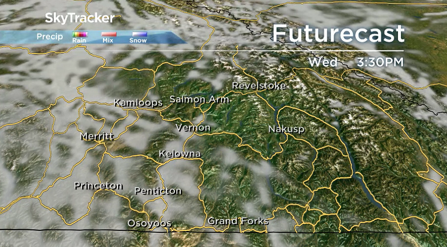 Clouds roll back in after a sunny start to the day on Wednesday.