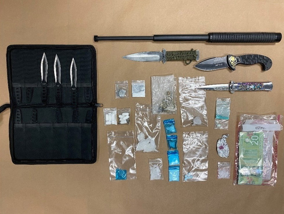 Three people face drug trafficking charges after drugs and weapons were seized from a residence in Cobourg on Thursday.