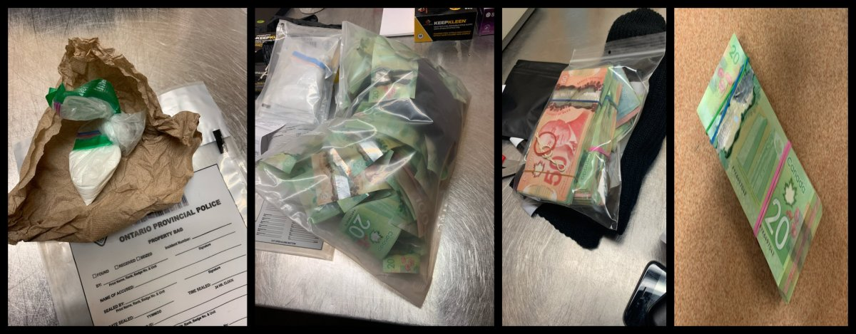 OPP say they seized drugs and about $15,000 in cash during a traffic stop in Loyalist Township last week.