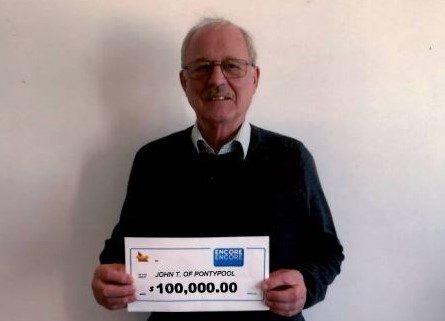 John Turner, of Pontypool, Ont., won $100,000 on an Encore ticket.