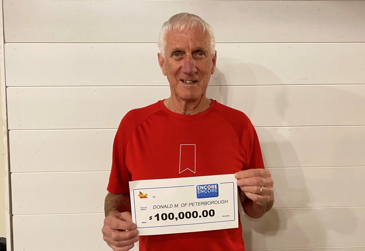 A Peterborough man claimed $100,000 on an OLG Encore ticket draw.