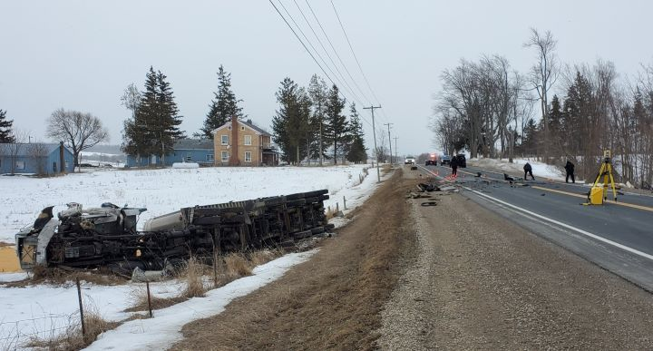 Emergency services were called to County Road 27 between Line 8 and Line 9 for a collision at around 7 a.m.