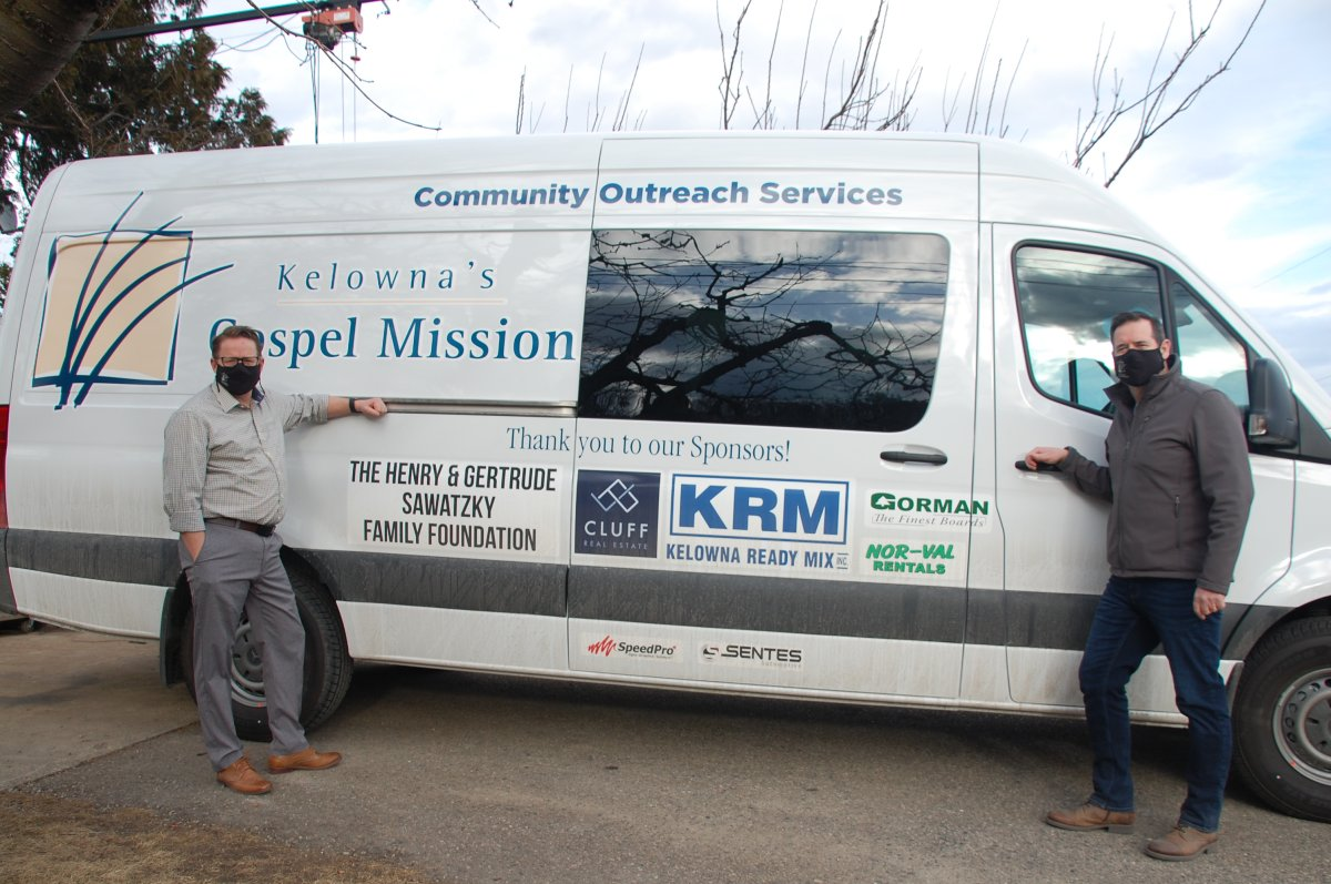 The Gospel Mission's new outreach van will help feed Kelowna's homeless population.