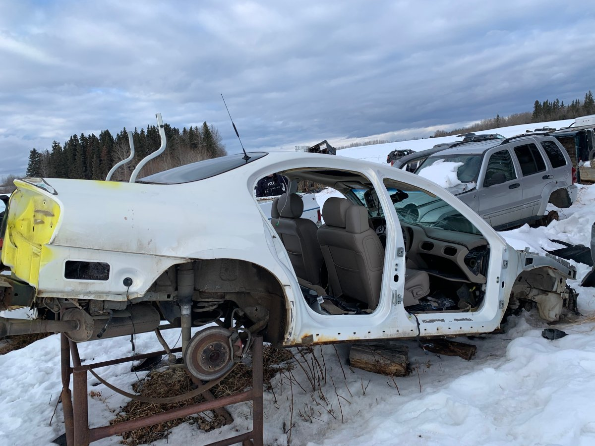 Bonnyville RCMP recovered $250,000 in stolen property and dismantled a vehicle chop shop at a rural property in La Corey, Alta. in February 2021.