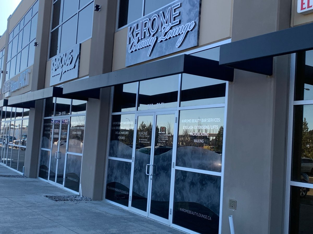 Khrome Beauty Lounge in south Edmonton on Tuesday, March 9, 2021.