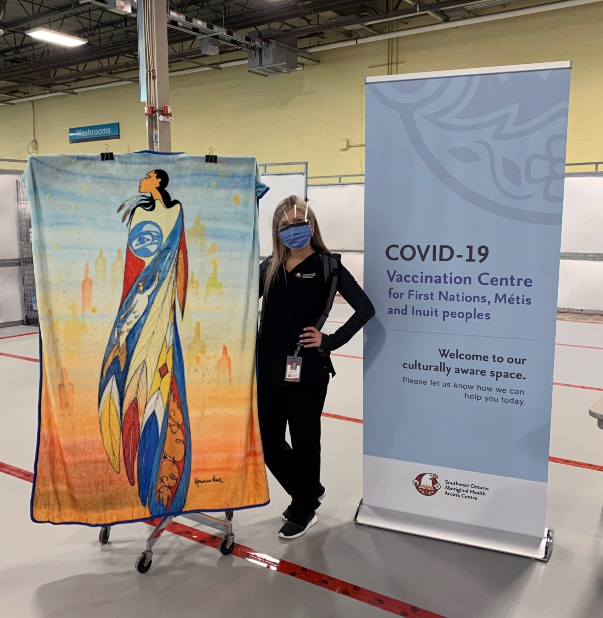 A culturally aware Indigenous vaccination program launched March 8, 2021 at the Agriplex site.