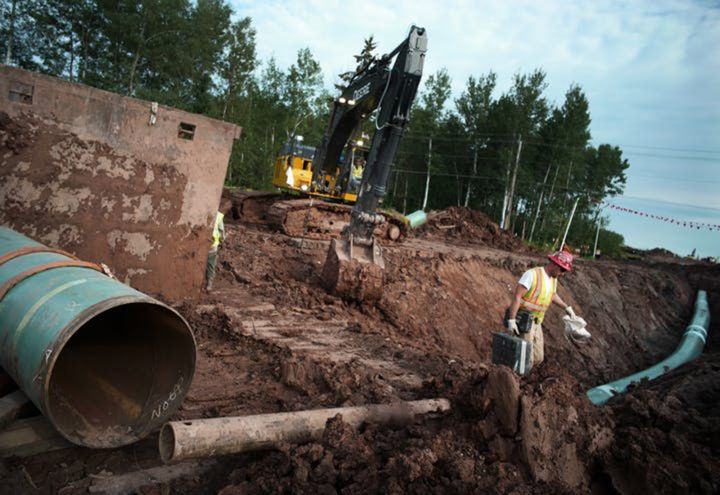 November 12, 2020, Superior, WI, USA: Two Minnesota regulators granted environmental permits for Enbridge's Line 3 oil pipeline across northern Minnesota, critical approvals needed for construction to begin soon on the controversial $2.6 billion project, on Thursday, Nov. 12, 2020.