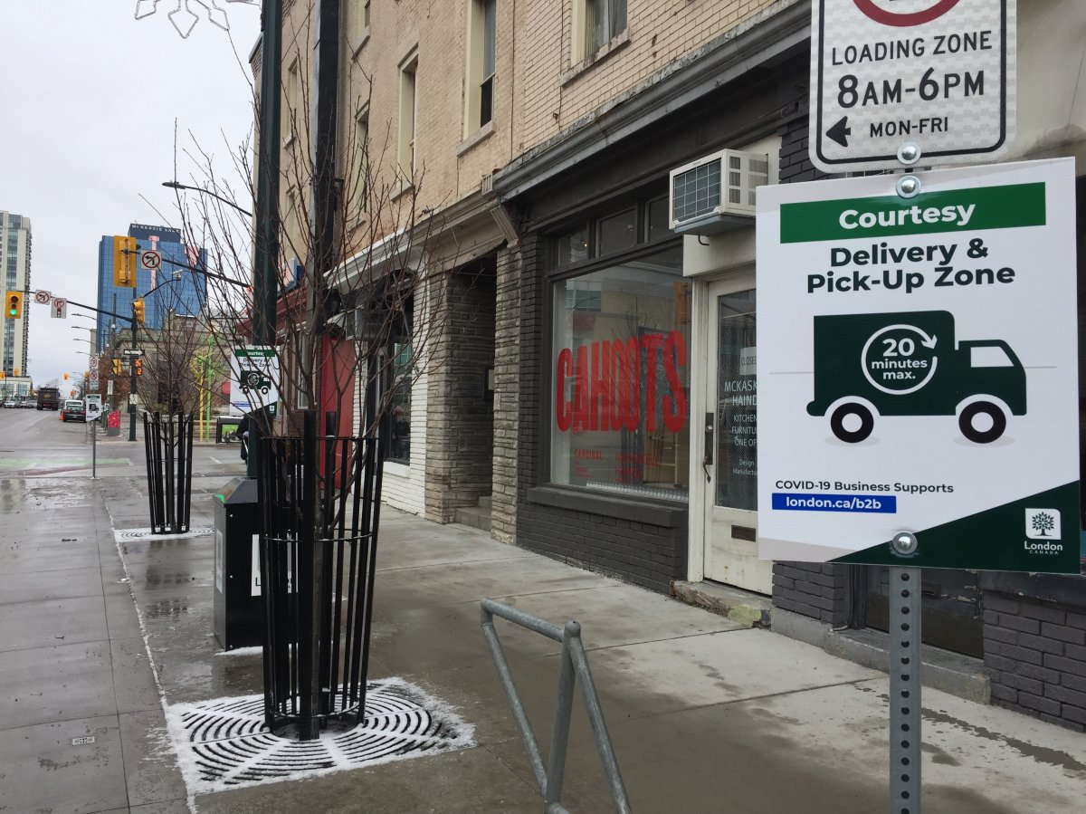 """One of the new """"park & pick-up"""" spots downtown."""