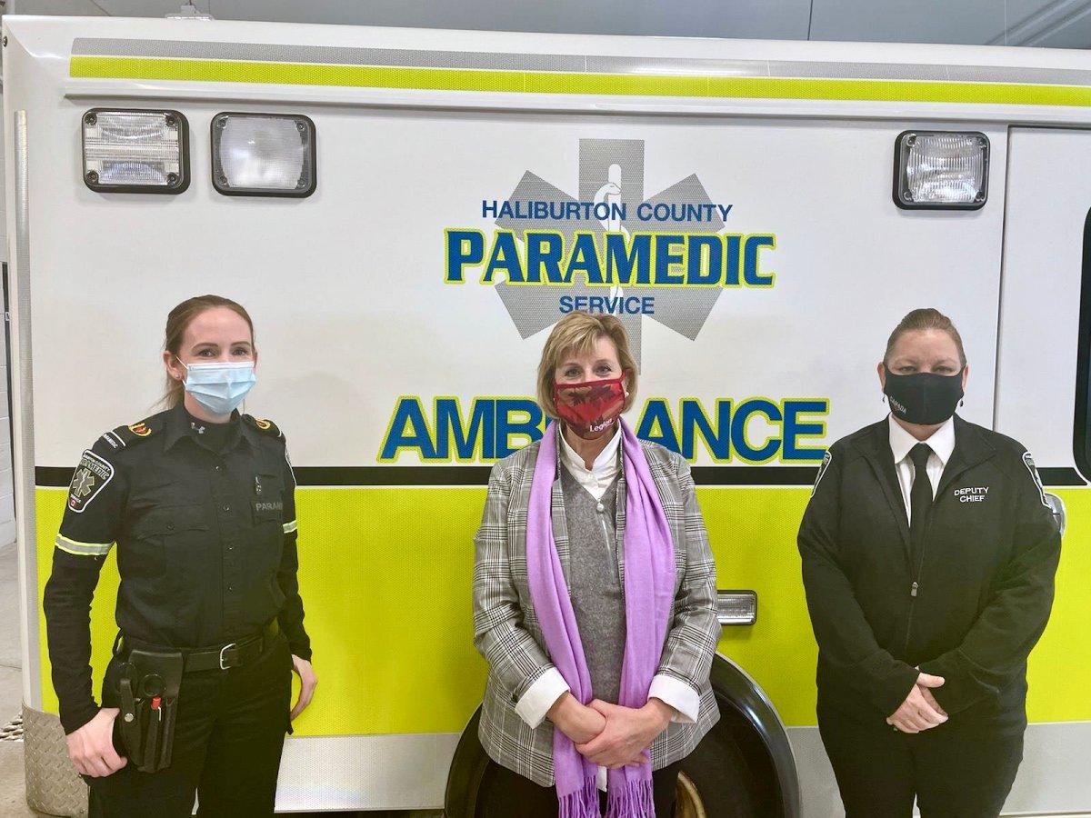 Haliburton-Kawartha Lakes-Brock MPP Laurie Scott says the Ontario government is providing $3.25M to expand community paramedicine  long-term care program in Haliburton County.
