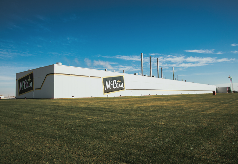 The McCain's processing facility in Coaldale, Alta.