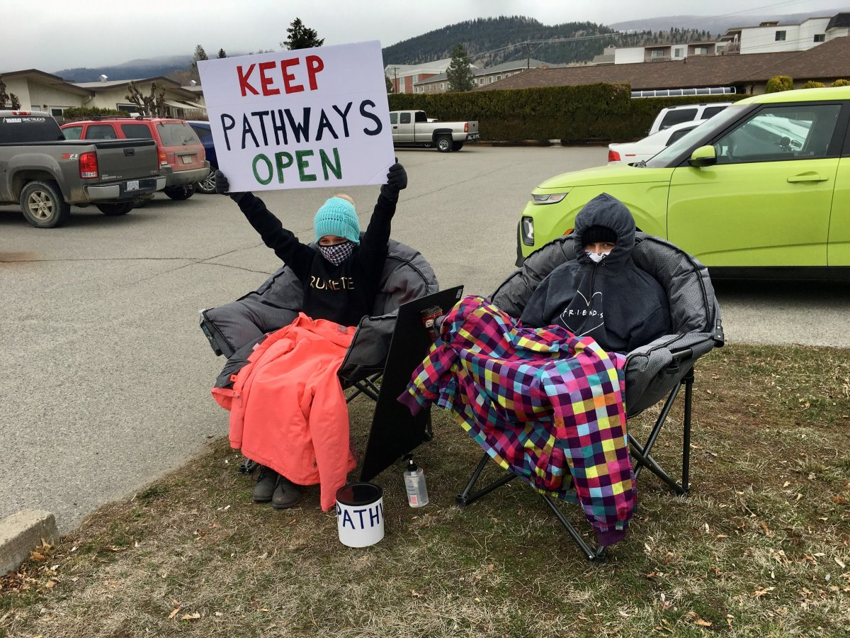 Supporters plan to rally outside Pathways every Sunday to keep the issue in the public eye.