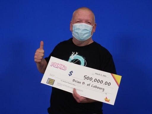 Brian Beckman of Cobourg won $500,000 playing the OLG's Plinko game.