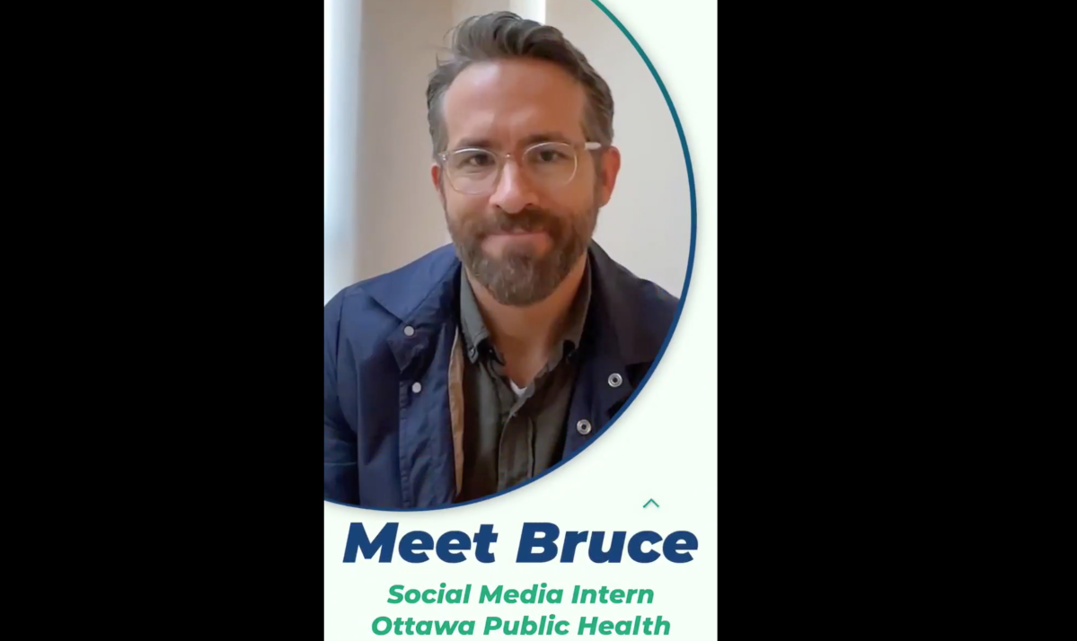 """Meet """"Bruce"""" — Ryan Reynolds' latest alter ego, as the actor revealed Friday he was the social media intern responsible for Ottawa Public Health's Super Bowl snafu."""