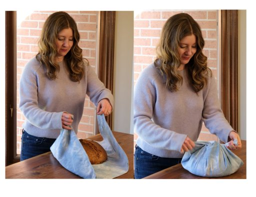 Anne Marie Matthews wraps homemade bread in linen, not plastic, before freezing.