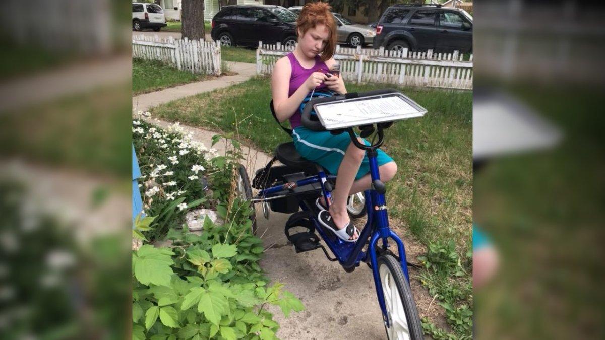 Tobi-Dawne Smith said she's happy her child's adaptive bike was found after someone stole it last week.