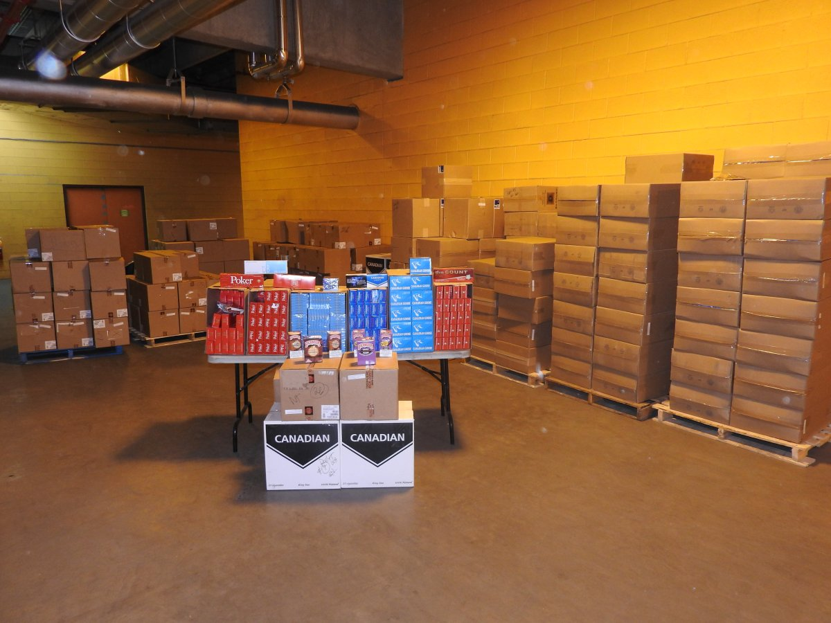 Alberta Gaming, Liquor & Cannabis says two men have been charged after it seized $2.3 million in contraband cigarettes and cigars.