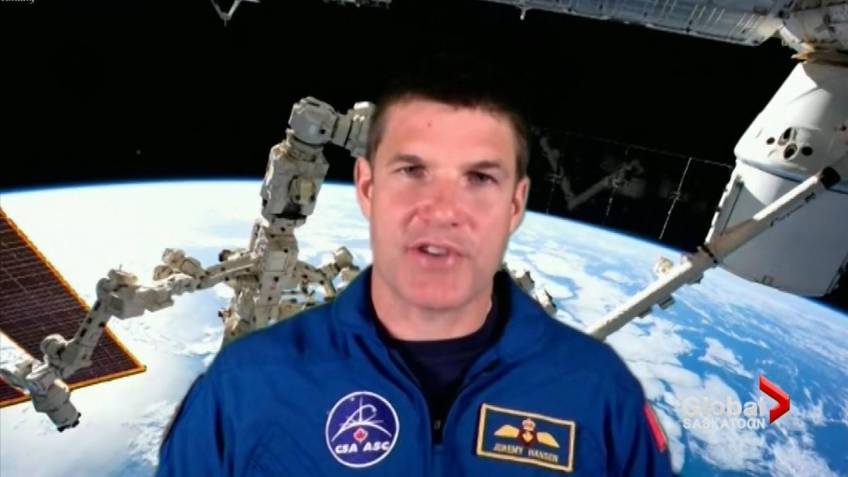 Canadian astronaut Jeremy Hansen visited some Saskatchewan students with a couple of virtual presentations included some Q&A.