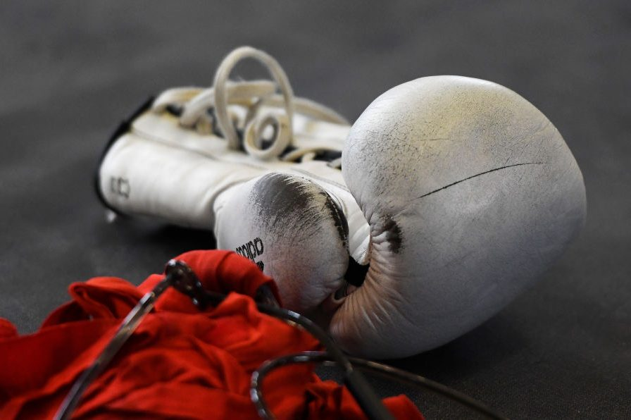A boxing glove is shown in this file photo.