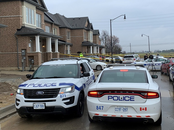 The scene of a reported kidnapping in Brampton last month.