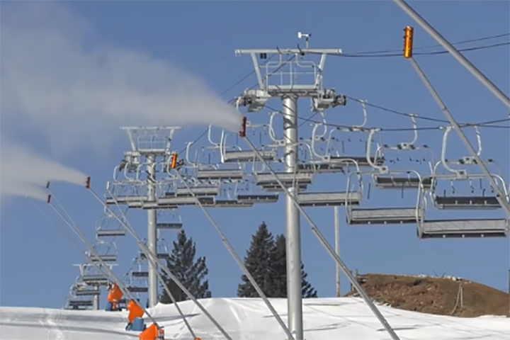 A ski lift is shown at Camelback Resort in this file photo.