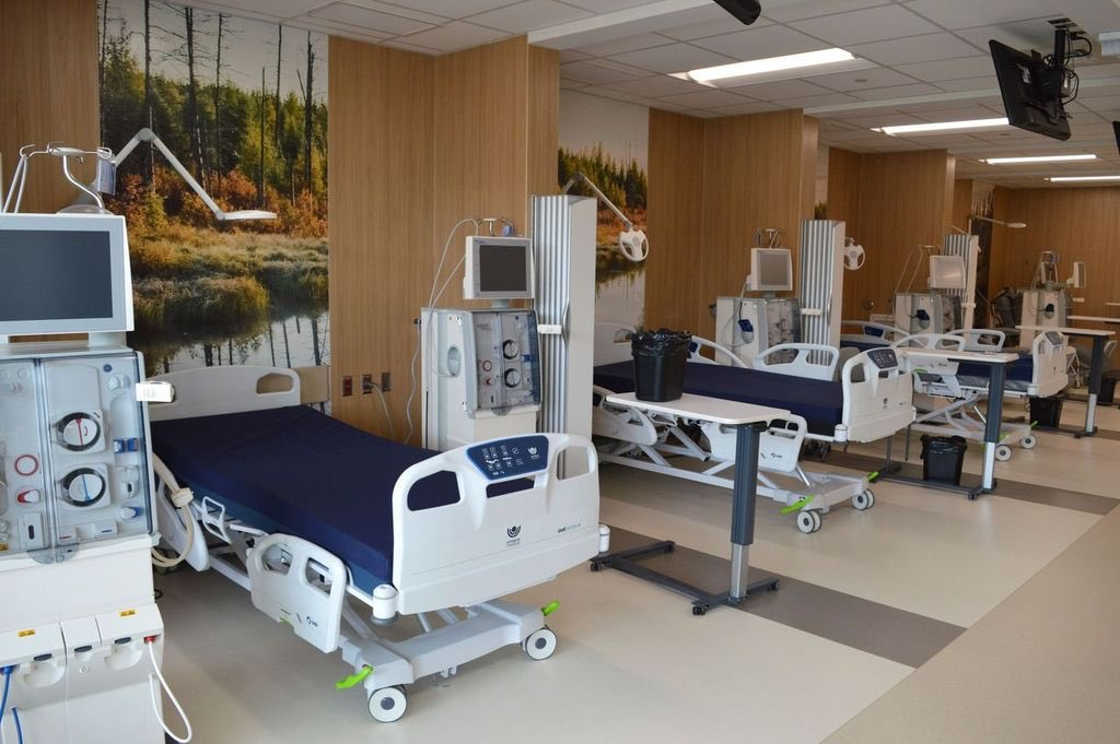 The province's new dialysis unit at HSC.