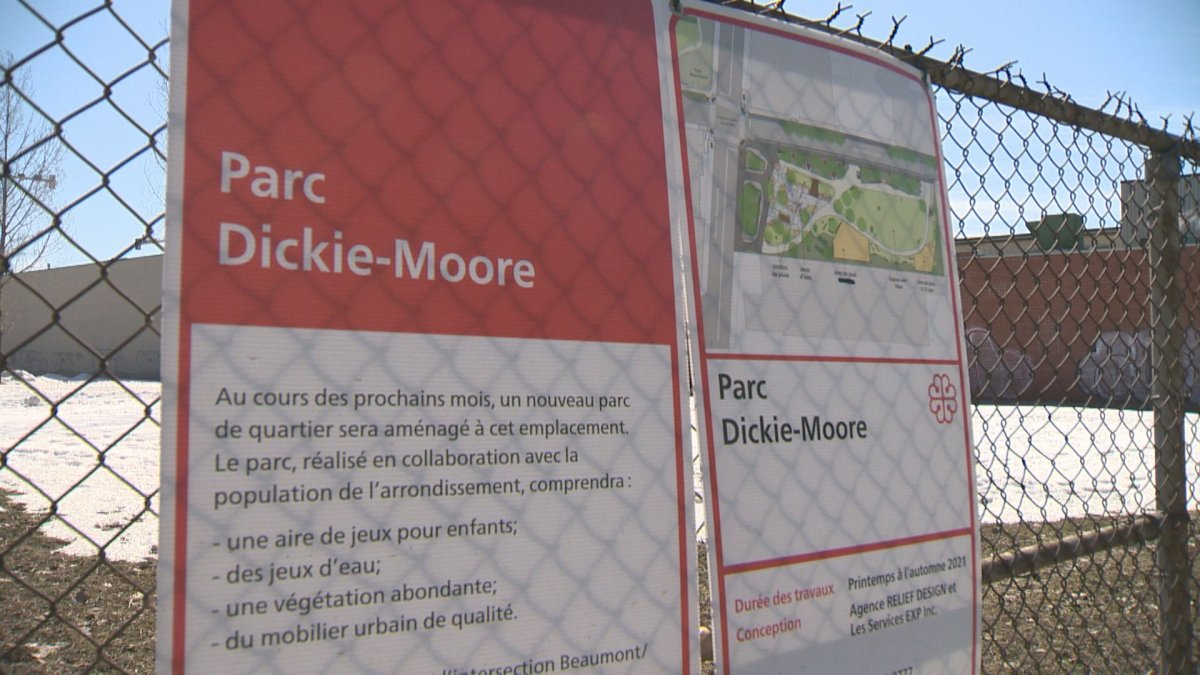Construction on Dickie- Moore Park in Parc-Extension, where hockey great Dickie Moore grew up, is slated to begin in April. Monday, March 15, 2020.