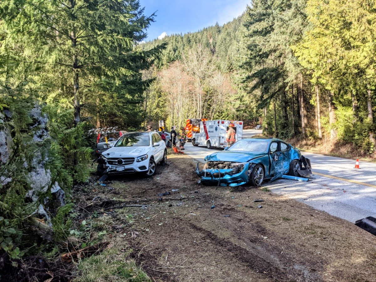 A failed attempt at stunt driving in West Vancouver, Wednesday, left a young driver in hospital and facing a fine and an ICBC headache.