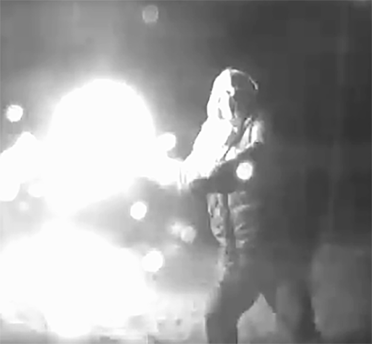 London police are asking members of the public to help identify this individual in connection with an arson investigation from late February on Kiwanis Park Drive.