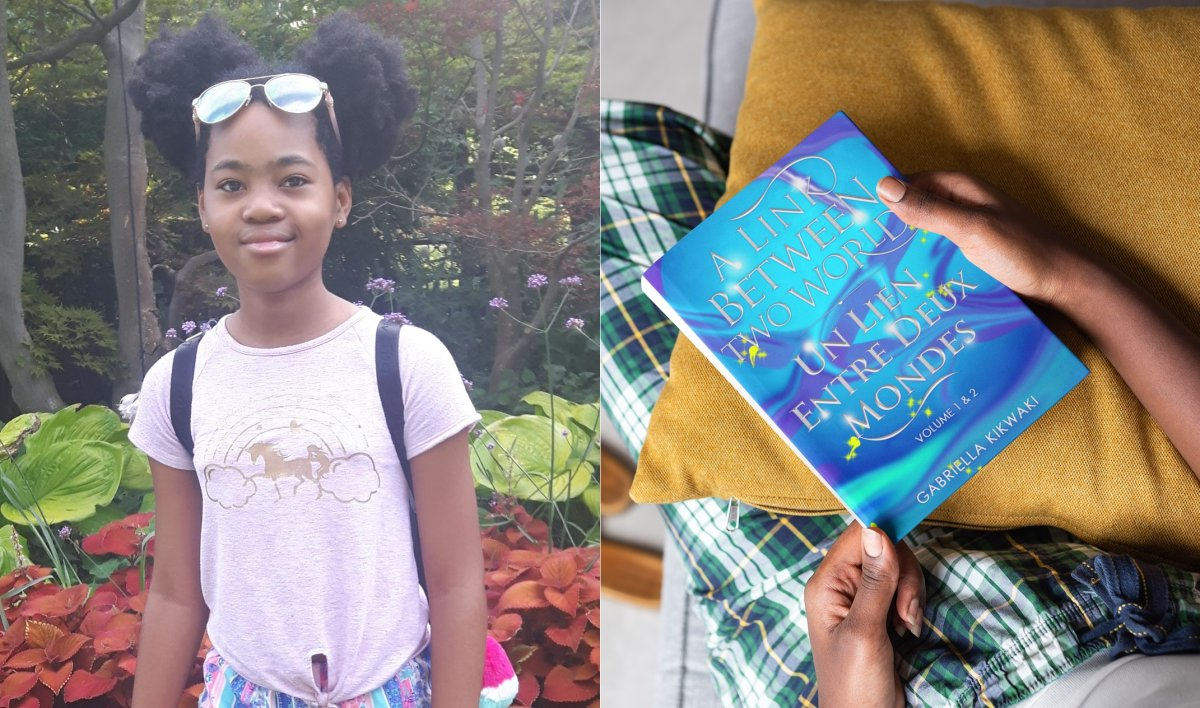 Gabriella Kikwaki, 11, started writing a fantasy series during the pandemic.