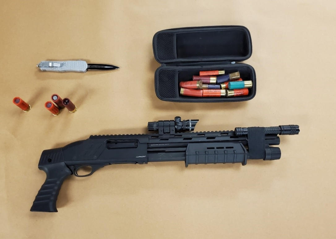 London Police seized weapons during a search warrant at a residence in the 100-block of Andover Drive.