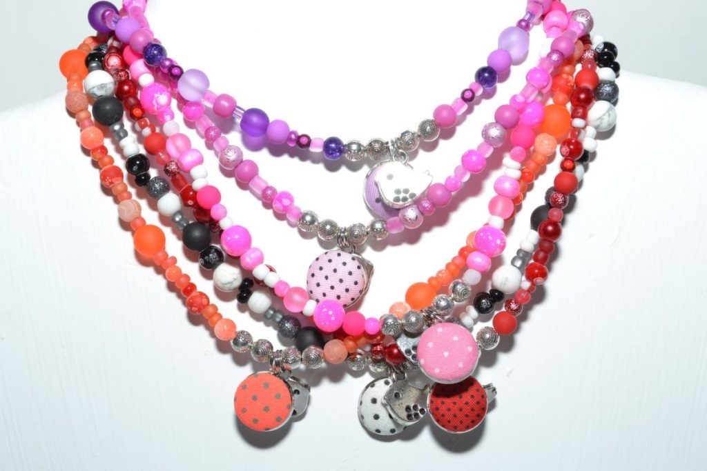 This recall involves the Junior girls' necklaces with button and bird charm pendants (style: 1236) and the bracelets to match the necklaces (style 1236-b).