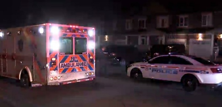 Emergency services on scene of an Oshawa stabbing on Saturday.