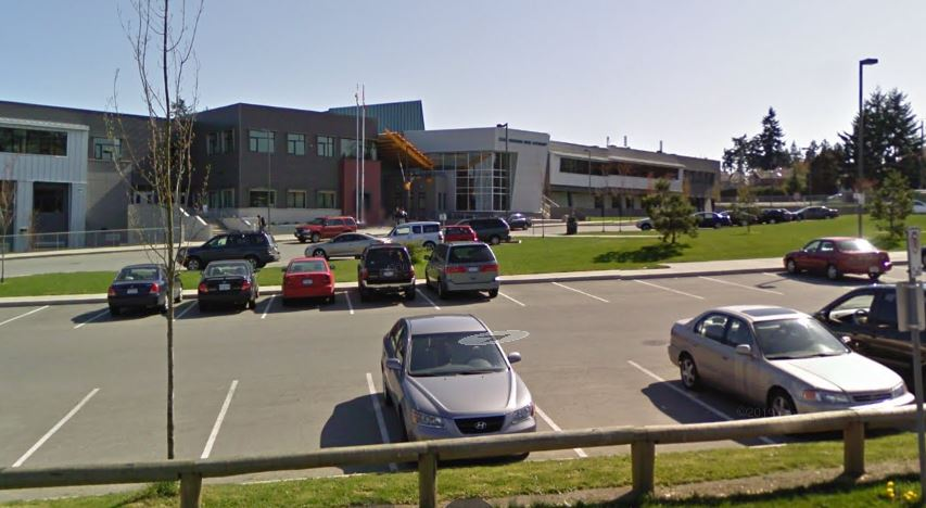 RCMP say they responded to an assault with a weapon outside Panorama Ridge Secondary on March 1, 2021.