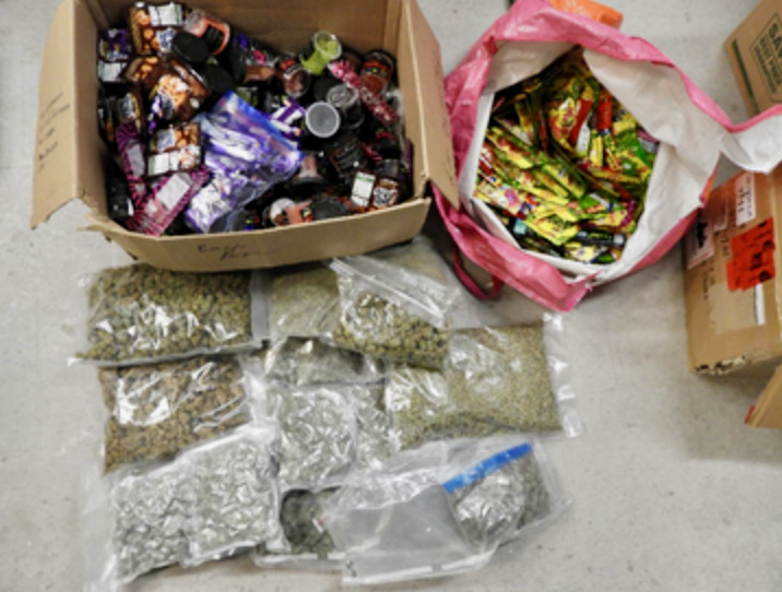 Marijuana and magic mushroom edibles were seized from a home in Peterborough on Friday.