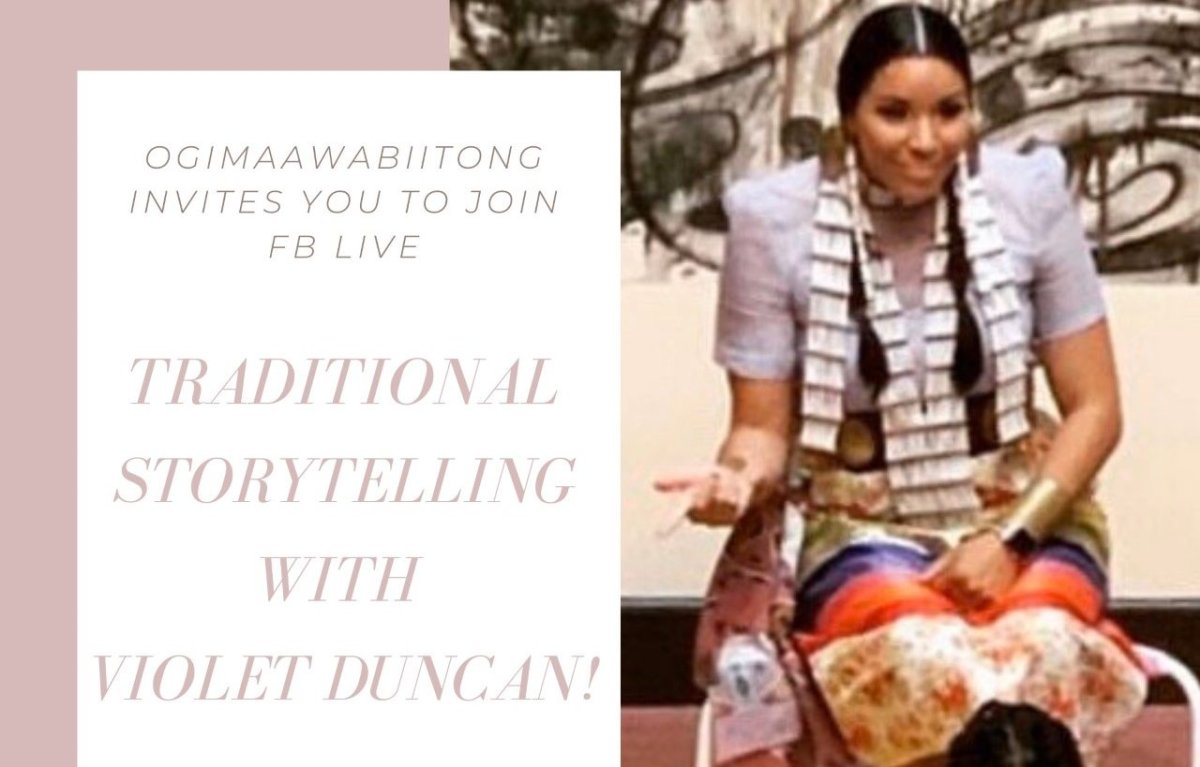 Violet Duncan offers traditional storytelling performances on Facebook through live sessions.