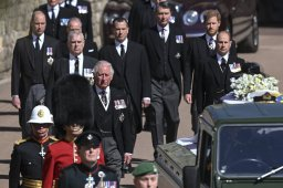 Continue reading: Princes Harry, William, mourn grandfather Philip during funeral at Windsor Castle
