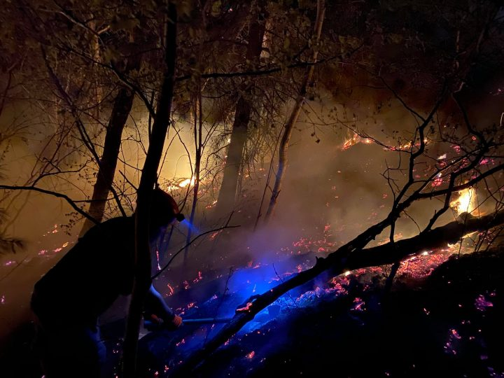 Oliver firefighters and BC Forestry personal were hard at work Tuesday night.