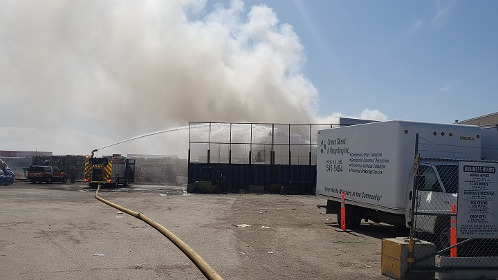 Regina Fire crews are currently on scene battling a blaze at Crown Shred and Recycling in Regina. Fire said it is under control.