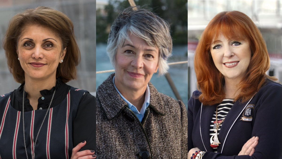 Three women city on Calgary city council ahead of the 2021 municipal election: (L to R) Jyoti Gondek, Druh Farrell and Diane Colley-Urquhart.