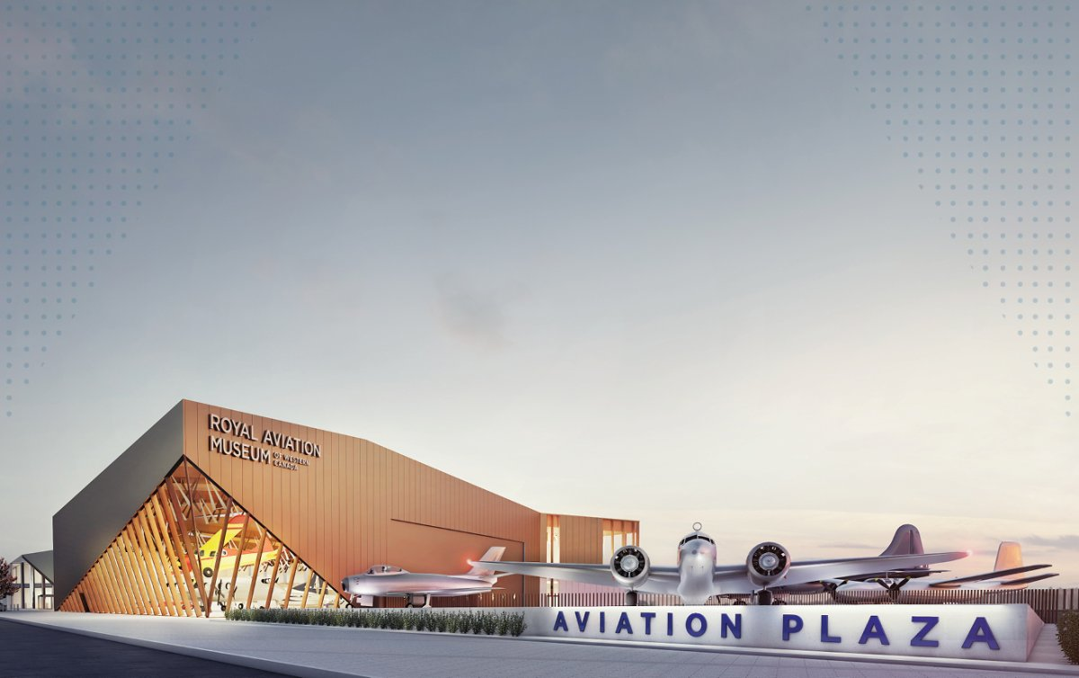 A rendering of what the new Royal Aviation Museum of Western Canada will look like when it opens next year.