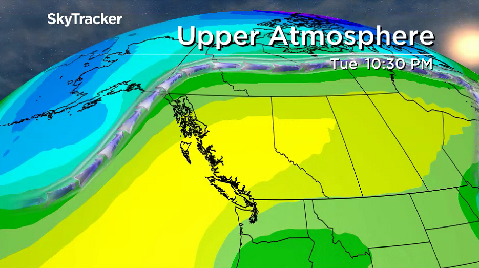 A major upper ridge of high pressure is pouring the heat and sunshine into the Okanagan this week.
