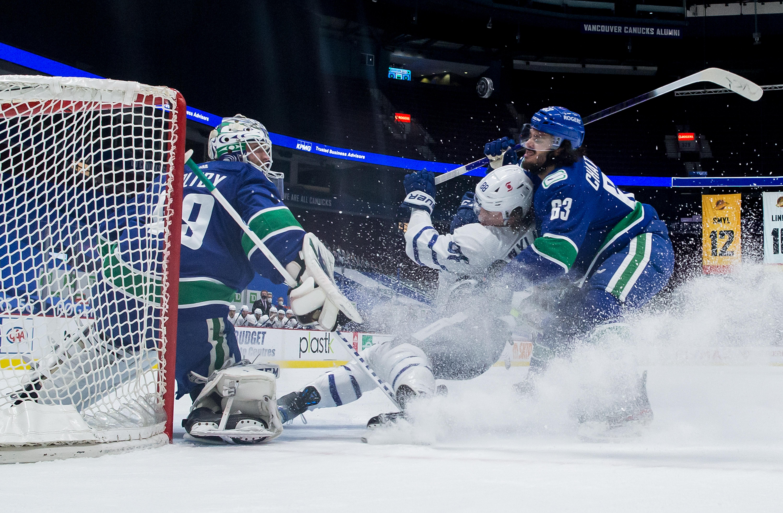 Pearson, Sutter each score twice as Vancouver Canucks dump Leafs 6-3