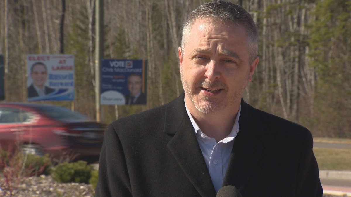 Chris MacDonald, a candidate for Riverview town council, says campaiging costs include signage, social media advertising and vehicle expenses.
