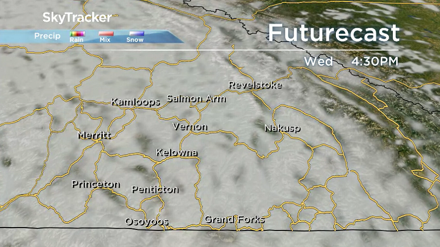 Clouds roll back in right across the region on Wednesday.