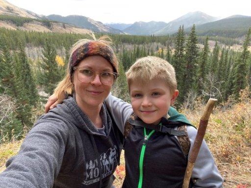 Daryl-Anne Steffen and her son.